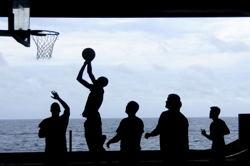 basketball, team, play